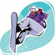 Snowboarder — Stock Vector #2438348