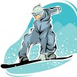 Snowboarder — Stock Vector #2438352