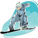 Snowboarder — Stock Vector