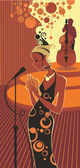 Diva del jazz — Vector de stock