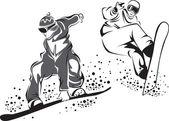 Snowboarders — Stockvector