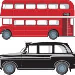 London public transport — Stock Vector