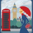 Royalty-Free Stock Vector Image: Rain in London