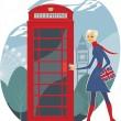 Royalty-Free Stock Vector Image: London telephone
