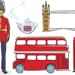 Symbols of London — Stock Vector