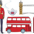 Stock Vector: Symbols of London