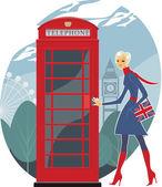 London telephone — Stock Vector