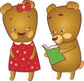 Cute bears — Stock Vector
