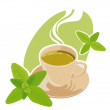 Mint tea — Stock Vector