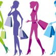 Stock Vector: Shopping