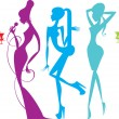 Royalty-Free Stock Vector Image: Female silhouettes