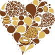 Royalty-Free Stock Vector: Coffee heart