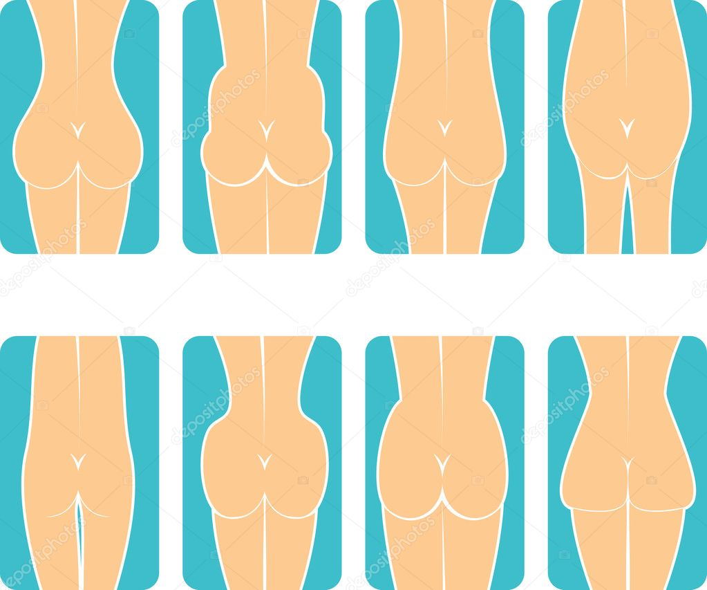 Shapes of female buttocks  — Stock Vector #2483893