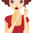 Red lipstick — Stock Vector