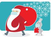 Santa wearing a protective mask — Wektor stockowy