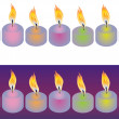 Royalty-Free Stock Vector Image: Candles