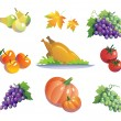 Vegetables and fruits — Stock Vector #1353972