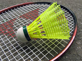 Badminton racket — Stock Photo
