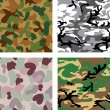 Stock Vector: Camouflage seamless pattern