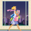 Shopping girl — Stock Vector #1726672