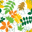 Autumn seamless pattern — Stock Vector