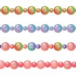 Stock Vector: Beads border