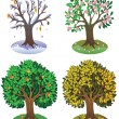 Stock Vector: Four seasons of year