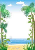 Tropic border — Stock Vector