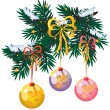 Royalty-Free Stock Vector Image: New years tree branch
