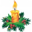 Christmas candle — Stock vektor
