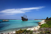 Caribische piratenschip — Stockfoto