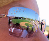 Ball Game Reflection — Stock Photo