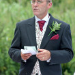 Foto de Stock  : Groom Speech