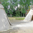 Stock Photo: Teepees