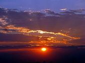 потрясающий закат — Стоковое фото