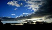 Atardecer puente — Foto de Stock