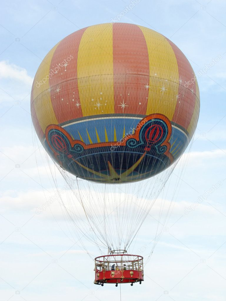 A Hot Air Balloon ride up in the sky  Stock Photo #1409884