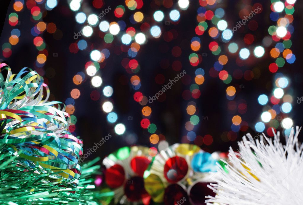 New Year's tinsel — Stock Photo #1373960
