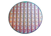 Wafer of Microprocessor — Stock Photo