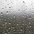 Stock Photo: Rain drops on a window