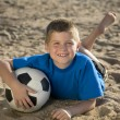 Stock Photo: Boy playing with ball
