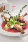 Roast duck with sauce — Stock Photo