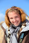 Girl portrait on a altai — Stock Photo