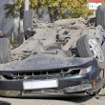 Car crash scene — Stock Photo