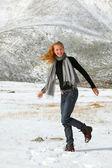 Girl outdoor — Zdjęcie stockowe