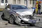 Auto-ongeluk — Stockfoto