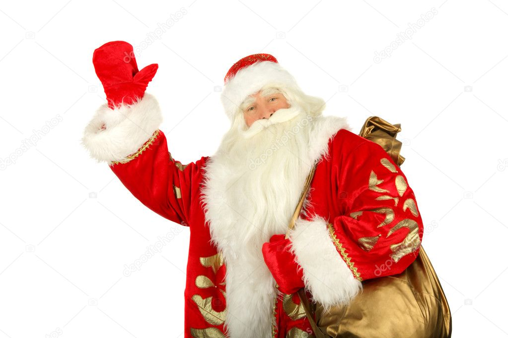 Christmas Santa Claus  . Isolated on white — Stock Photo #1371499