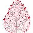 Heart tree — Vector de stock #1335241