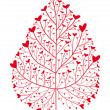 Royalty-Free Stock Imagem Vetorial: Heart tree