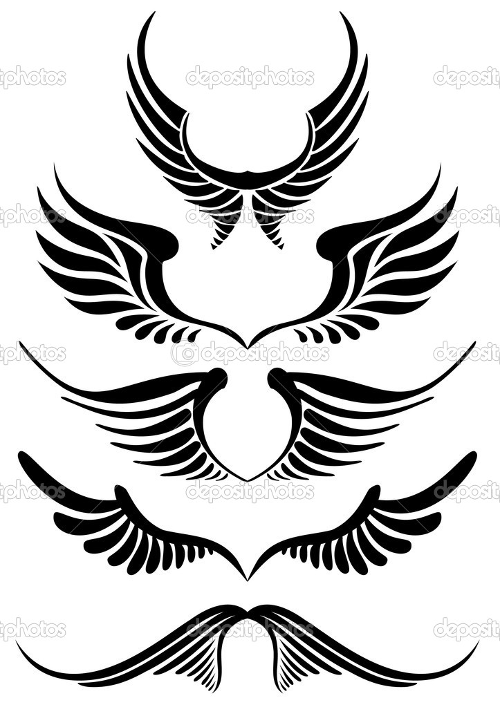 abstract wing silhouettes   Eagle Wings Silhouette